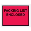 "4 1/2"" x 6"" Red ""Packing List Enclosed"" Envelopes 1000/Case"