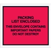 "7"" x 6"" Red ""Important Papers Enclosed"" Envelopes 1000/Case"