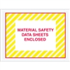 "4 1/2"" x 6"" Yellow (Striped) ""Material Safety Data Sheets Enclosed"" Envelopes 1000/Case"