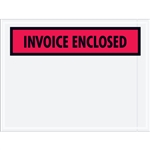 "4 1/2"" x 6"" Red (Panel Face) ""Invoice Enclosed"" Envelopes 1000/Case"