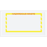 "5 1/2"" x 10"" Yellow Border ""Hazardous Waste"" Document Envelopes 1000/Case"