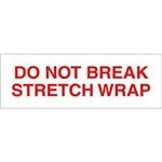 "TAPE, PRINTED ""DO NOT BREAK STRETCH WRAP"", 2"" X 110 YD, 36/CS, WHITE/RED"