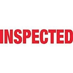 "TAPE, PRINTED ""INSPECTED"", 2"" X 110 YD, 36/CS, WHITE/RED"