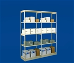 "SHELVING, OPEN ADD-ON UNIT, 36""W X 18""D X 88.25""H, 5 SHELVES"