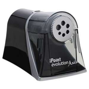 ACME UNITED CORPORATION Evolution Axis Pencil Sharpener, Black/Silver, 5w x 7 1/2 d x 7 1/4h