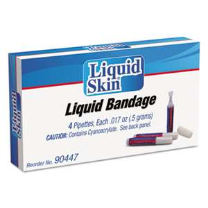 ACME UNITED CORPORATION Liquid Bandage, 0.017 oz Pipette, 4/Box