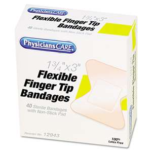 ACME UNITED CORPORATION First Aid Fingertip Bandages, 40/Box