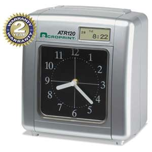 ACRO PRINT TIME RECORDER Model ATR120 Analog/LCD Automatic Time Clock