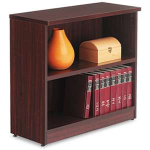 ALERA Alera Valencia Series Bookcase, Two-Shelf, 31 3/4w x 14d x 29 1/2h, Mahogany