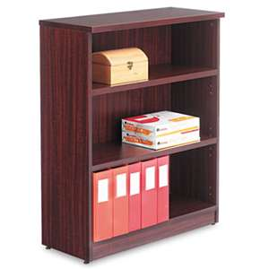ALERA Alera Valencia Series Bookcase, Three-Shelf, 31 3/4w x 14d x 39 3/8h, Mahogany