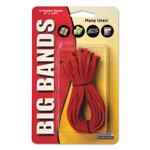 ALLIANCE RUBBER Big Bands Rubber Bands, 7 x 1/8, Red, 12/Pack