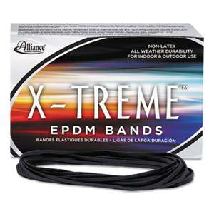 ALLIANCE RUBBER X-treme File Bands, 117B, 7 x 1/8, Black, Approx. 175 Bands/1lb Box