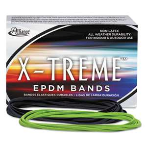ALLIANCE RUBBER X-treme File Bands, 117B, 7 x 1/8, Lime Green, Approx. 175 Bands/1lb Box