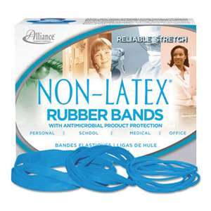 ALLIANCE RUBBER Antimicrobial Non-Latex Rubber Bands, Sz. 117B, 7 x 1/8, .25lb Box