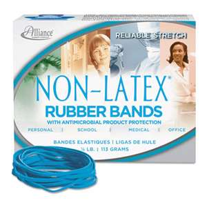 ALLIANCE RUBBER Antimicrobial Non-Latex Rubber Bands, Sz. 33, 3-1/2 x 1/8, .25lb Box