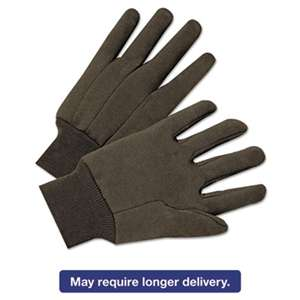 ANCHOR Jersey General Purpose Gloves, Brown, 12 Pairs