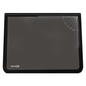 ARTISTIC LLC Lift-Top Pad Desktop Organizer with Clear Overlay, 31 x 20, Black