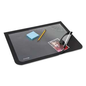 ARTISTIC LLC Lift-Top Pad Desktop Organizer with Clear Overlay, 22 x 17, Black