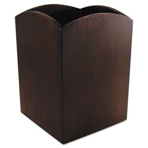ARTISTIC LLC Bamboo Curved Pencil Cup, 3 x 3  4 1/4, Espresso Brown