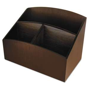 ARTISTIC LLC Eco-Friendly Bamboo Curves Desk Organizer, 7 1/4 x 4 3/4 x 5 1/4, Espresso