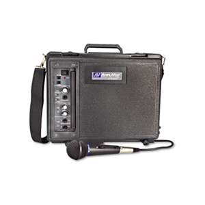 AMPLIVOX PORTABLE SOUND SYS. Audio Portable Buddy Professional PA System w/Pro Wired Mic & 15-ft. Cable