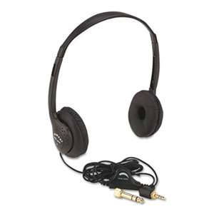 AMPLIVOX PORTABLE SOUND SYS. Personal Multimedia Stereo Headphones with Volume Control, Black