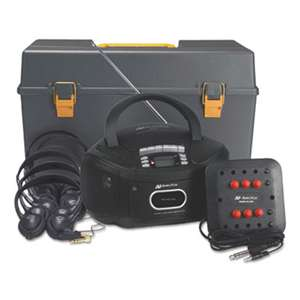 AMPLIVOX PORTABLE SOUND SYS. Personal Six-Station Listening Center