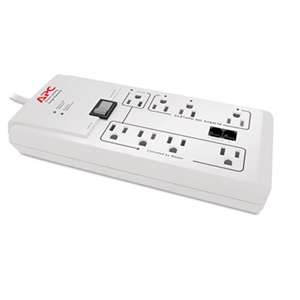 AMERICAN POWER CONVERSION Home/Office SurgeArrest Protector, 8 Outlets, 6 ft Cord, 2030 Joules, White