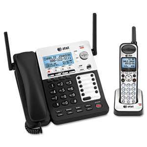 VTECH COMMUNICATIONS SB67138 DECT6 Phone/Ans System, 4 Line, 1 Corded/1 Cordless Handset