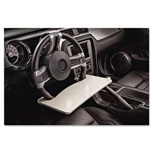 AUTOEXEC INC Automobile Steering Wheel Attachable Work Surface, Gray