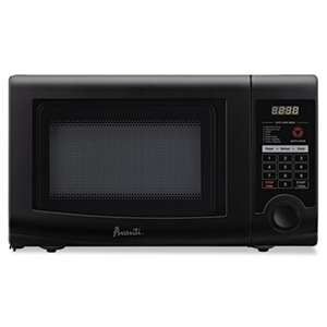 AVANTI 0.7 Cubic Foot Capacity Microwave Oven, 700 Watts, Black