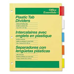 AVERY-DENNISON Plastic Insertable Dividers, 5-Tab, Letter