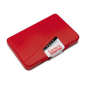 AVERY-DENNISON Felt Stamp Pad, 4 1/4 x 2 3/4, Red