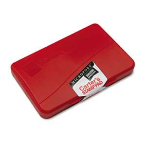 AVERY-DENNISON Micropore Stamp Pad, 4 1/4 x 2 3/4, Red