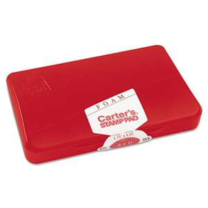 AVERY-DENNISON Foam Stamp Pad, 4 1/4 x 2 3/4, Red