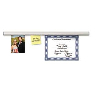 ADVANTUS CORPORATION Grip-A-Strip Display Rail, 96 x 1 1/2, Aluminum Finish