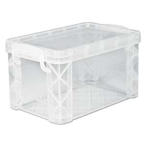ADVANTUS CORPORATION Super Stacker Storage Boxes, Hold 500 4 x 6 Cards, Plastic, Clear