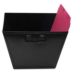 ADVANTUS CORPORATION Steel File and Storage Bin, Letter, 12 1/8 x 11 1/4 x 7 3/8, Black