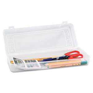 ADVANTUS CORPORATION Stretch Art Box, Polypropylene, Snap Shut, Clear