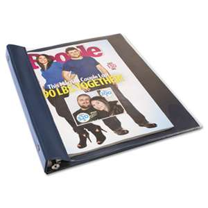 ADVANTUS CORPORATION Catalog/Magazine Binder, 11 x 9 1/2, Clear Front, Navy Blue Back