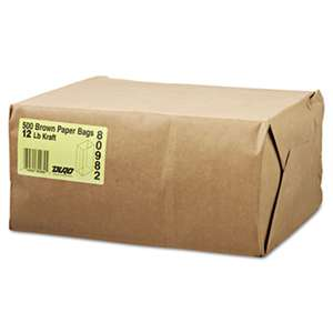 GENERAL SUPPLY #12 Paper Grocery Bag, 40lb Kraft, Standard 7 1/16 x 4 1/2 x 13 3/4, 500 bags