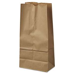 GENERAL SUPPLY #16 Paper Grocery Bag, 40lb Kraft, Standard 7 3/4 x 4 13/16 x 16, 500 bags