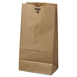 GENERAL SUPPLY #20 Paper Grocery Bag, 40lb Kraft, Standard 8 1/4 x 5 5/16 x 16 1/8, 500 bags