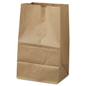 GENERAL SUPPLY #20 Squat Paper Grocery Bag, 40lb Kraft, Std 8 1/4 x 5 15/16 x 13 3/8, 500 bags
