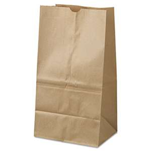 GENERAL SUPPLY #25 Squat Paper Grocery Bag, 40lb Kraft, Standard 8 1/4 x6 1/8 x15 7/8, 500 bags