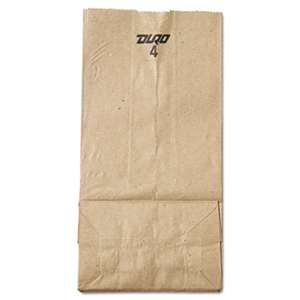 GENERAL SUPPLY #4 Paper Grocery Bag, 30lb Kraft, Standard 5 x 3 1/3 x 9 3/4, 500 bags
