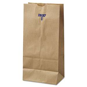 GENERAL SUPPLY #8 Paper Grocery Bag, 35lb Kraft, Standard 6 1/8 x 4 1/6 x 12 7/16, 500 bags