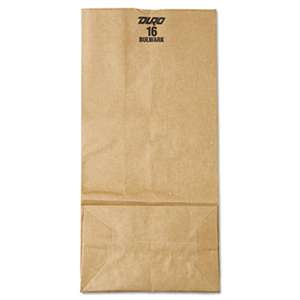 GENERAL SUPPLY #16 Paper Grocery Bag, 57lb Kraft, Extra-Heavy-Duty 7 3/4 x4 13/16 x16, 500 bags