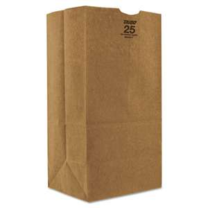GENERAL SUPPLY #25 Paper Grocery, 57lb Kraft, Extra Heavy-Duty 8 1/4x6 1/8 x15 7/8, 500 bags