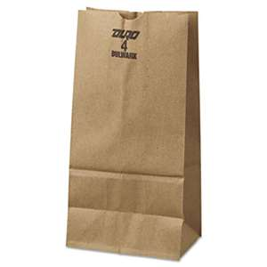 GENERAL SUPPLY #4 Paper Grocery Bag, 50lb Kraft, Extra-Heavy-Duty 5 x 3 1/3 x 9 3/4, 500 bags